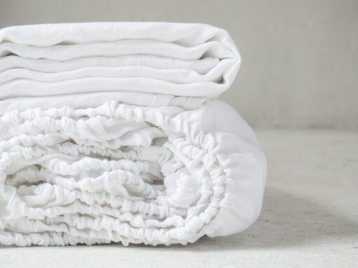 White linen flat sheet