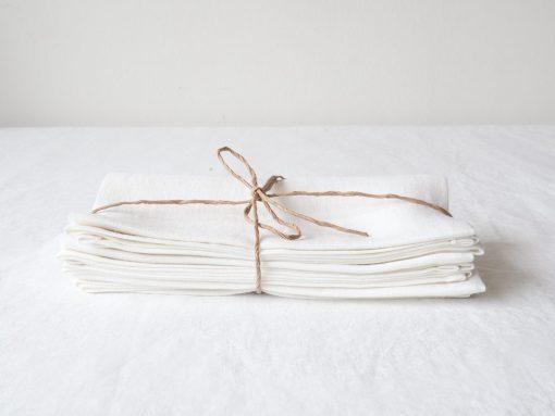 White linen kitchen towels