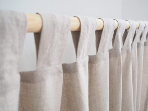 Heavy weight linen curtains