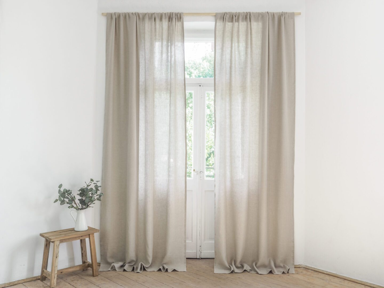 Sheer Linen Curtains 100 European Stonewashed Linen
