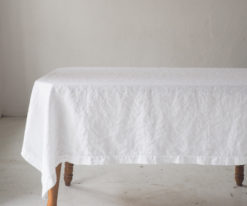 Large linen tablecloth