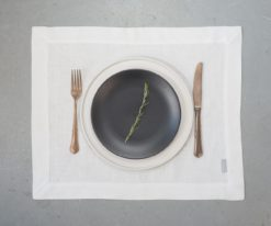 White linen placemats
