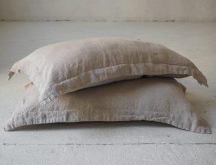 Lniana poszewka na poduszkę z listwą