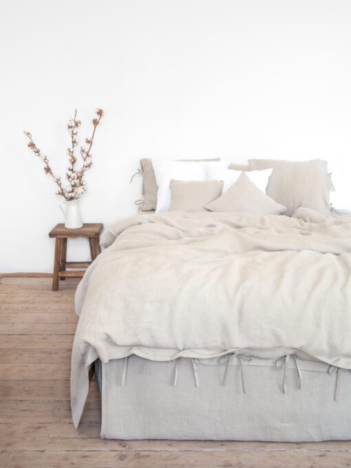 Bettwäsche aus natürlichem Leinen 160x200