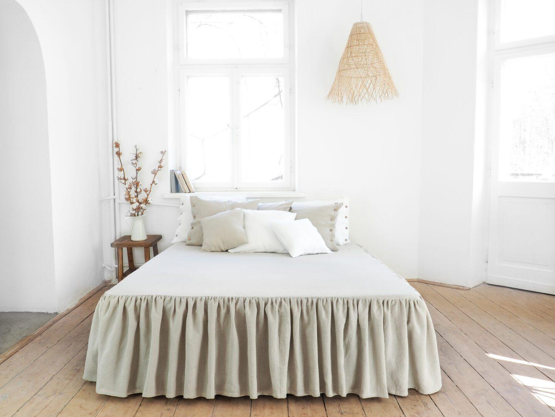 Linen Bedskirt 100 European Stonewashed Linen
