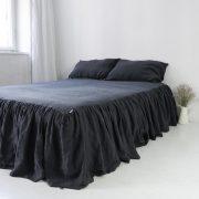lniana kapa na łóżko