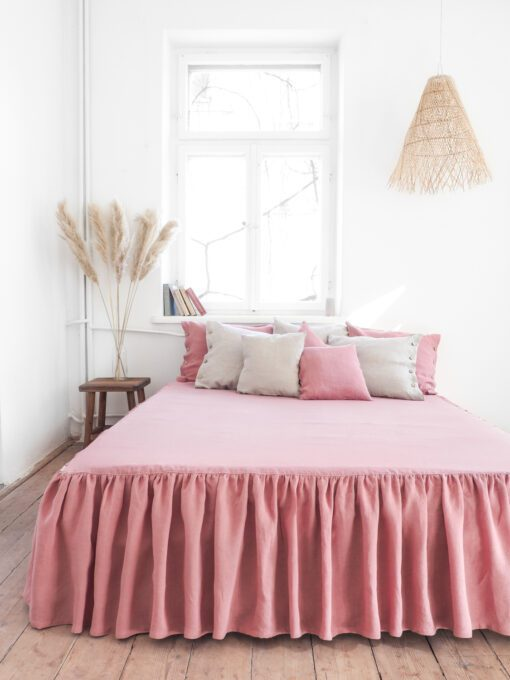 Linen bedskirt queen