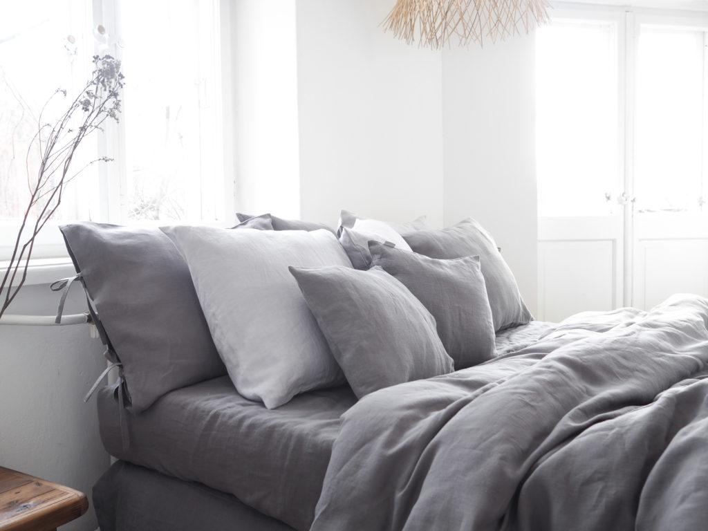 stonewashed linen bedding