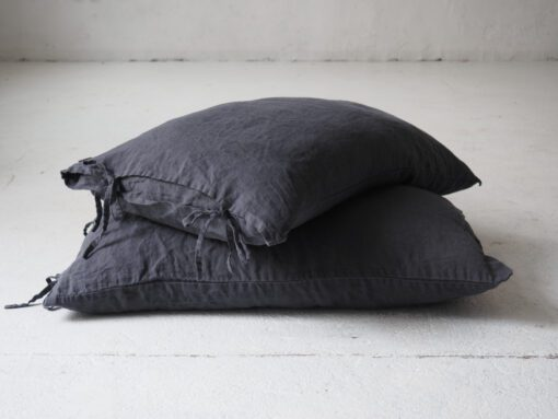 Linen pillowcases with ties king
