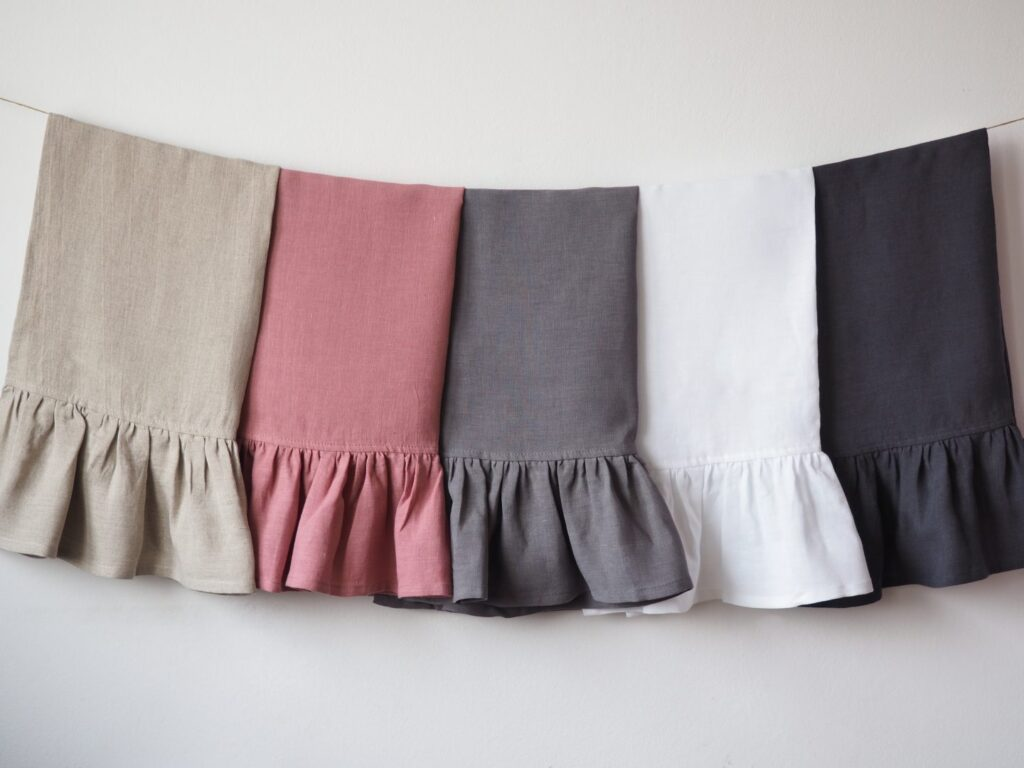 kitchen towels with ruffles