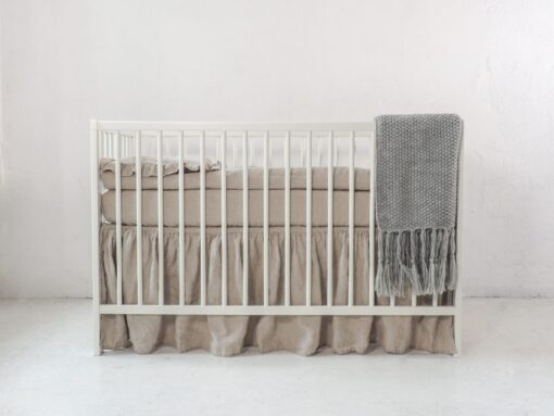 Gender neutral crib skirt