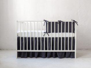 Lniany ochraniacz do łóżeczka 120x60