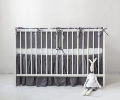 crib bumper with ruffle