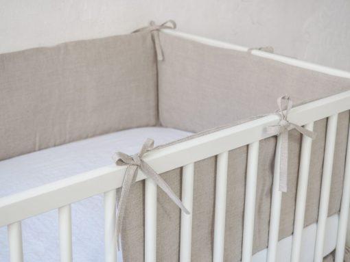 Naturalny ochraniacz do łóżeczka modułowy