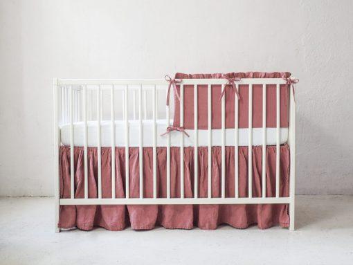 Ochraniacz na szczebelki do łóżeczka dla dziewczynki