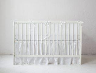 Lniany ochraniacz do łóżeczka 140x70