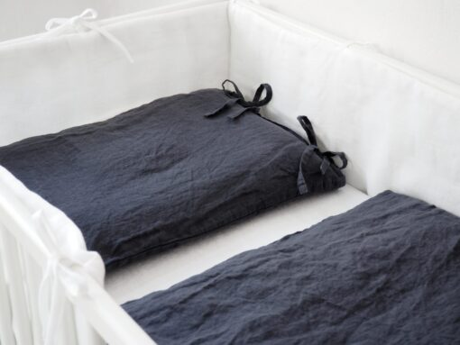 Linen crib bedding for boy