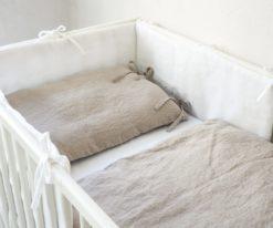 Pościel lniana do łóżeczka