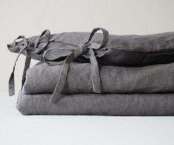 Linen crib bedding set