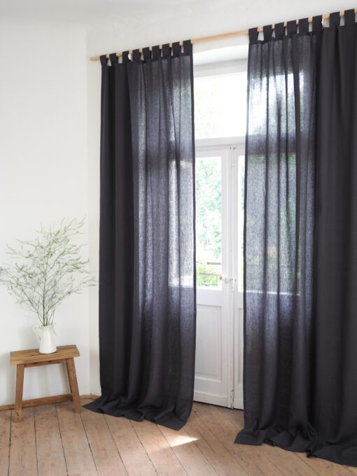 Natural curtains made of linen