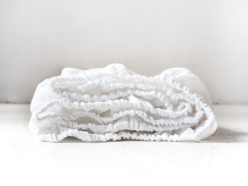 White linen fitted sheet