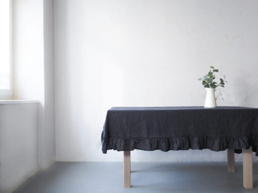 Charcoal tablecloth