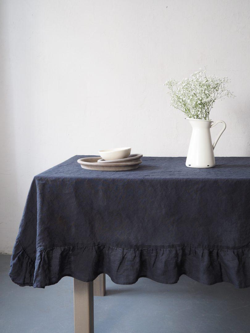 Elegant linen tablecloth