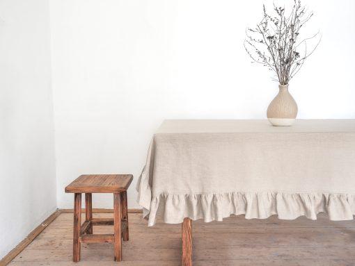 Rustic linen tablecloth