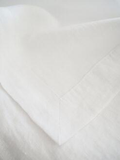 bialy obrus z lnu
