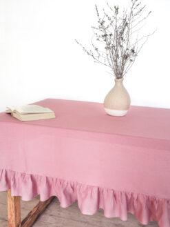 Leinen Tischdecke im Landhausstil
