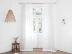 white linen sheer curtains