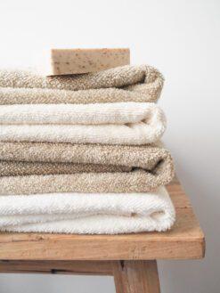 Weiß Leinen-Frottee-Handtuch