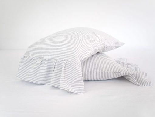 poduszka z lnu w paski