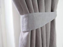 Leinen Vorhang Krawatten zurück