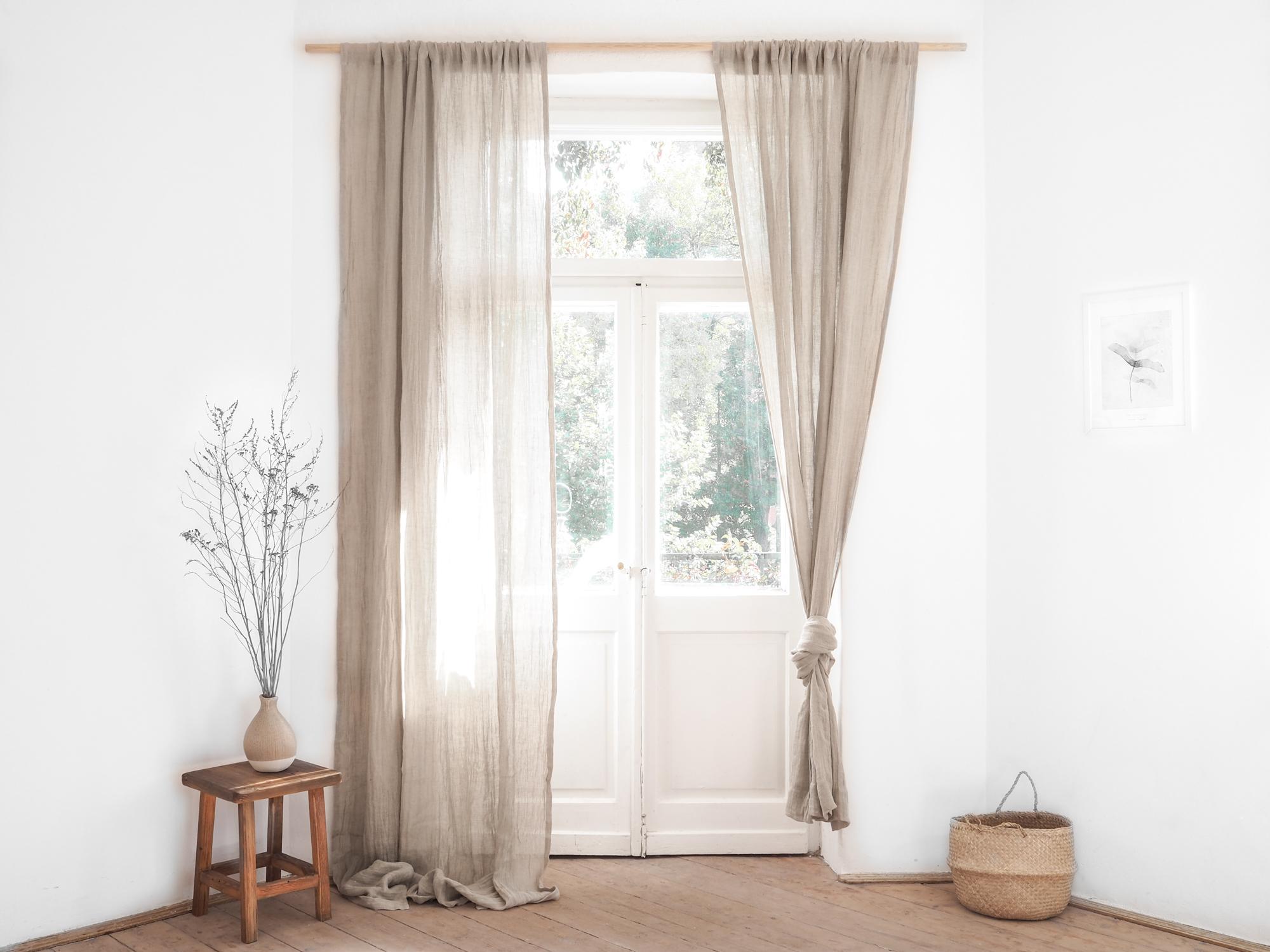 Linen Net Curtains Made Of Gently Transparent Linen Muslin