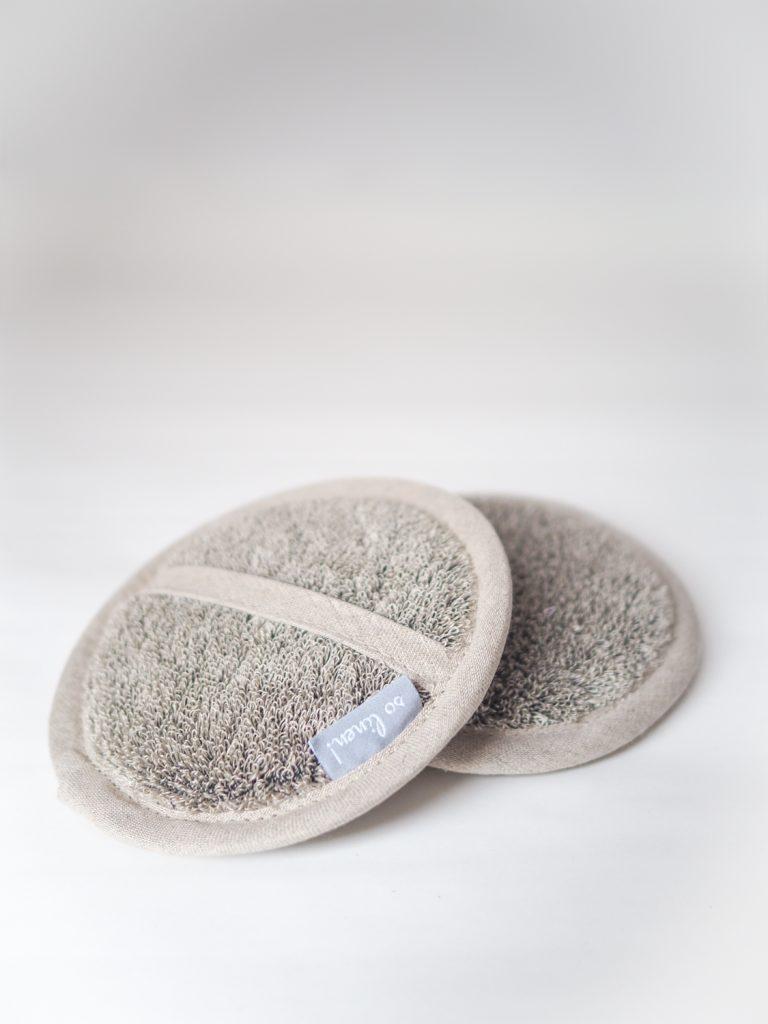 linen sponge peeling
