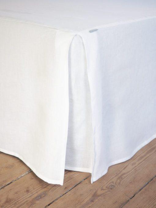 Biały lambrekin lniany