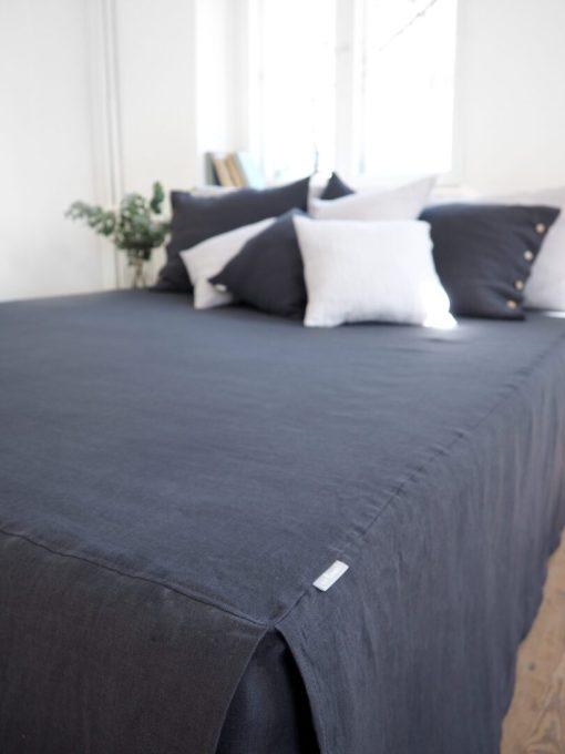 Lniany lambrekin łóżkowy