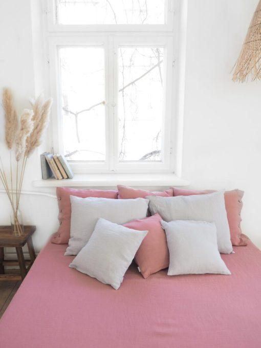 Lniany lambrekin na łóżko 160 x 200