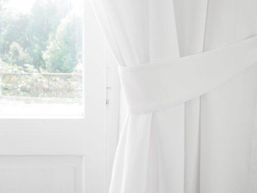 Lniane szarfy do zasłon białe