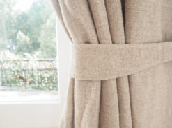 burlap curtain tie backs