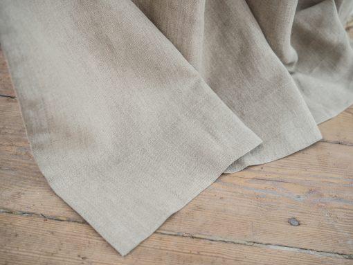 Tie top heavy linen curtains