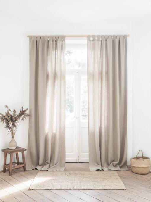 Heavy weight linen curtains