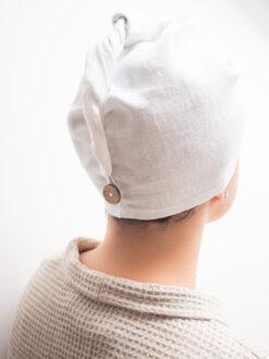 White bathing turban