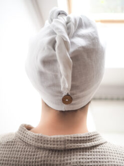 White bathing turban