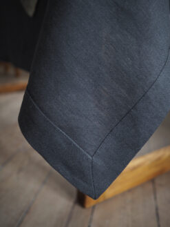 Charcoal solid linen tablecloth