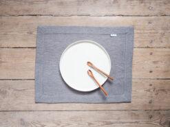 Lniane podkładki na stół szare
