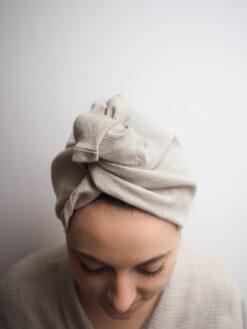 Natural bathing turban