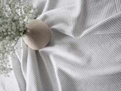 Striped solid linen tablecloth