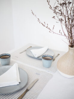 Striped linen placemats